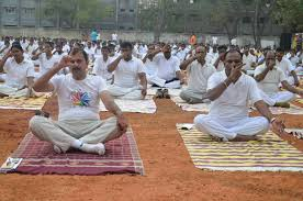 yoga and tation awareness program for great chennai police officers