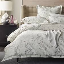 400 thread count cotton sateen duvet cover features a serene fl motif with shadowy