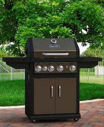 dyna glo dga480bsn 4 burner with side burner natural gas grill burnished bronze finish canada