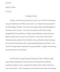 baseline assessment katie stutz s e portfolio chuckie s courage essay