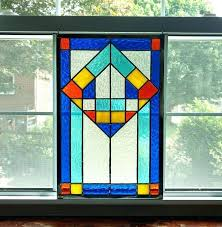opalescent stained glass geometric panel window modern image 0 sheets