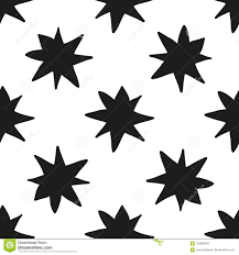 How To Draw A Star Design Monochrome Geometric Seamless Pattern With Hand Draw