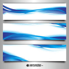 free banner backgrounds abstract wave blue set banner background free vector blue