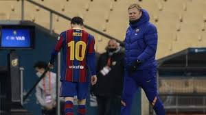 <b>Lionel Messi</b> sent off as Barcelona lose Spanish Super Cup to ...