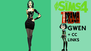 Sims 4 - Gwen from Total Drama Island + CC Links - YouTube | Total drama  island, Sims, Sims 4