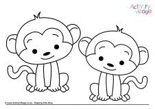 Small Picture Monkey Colouring Pages