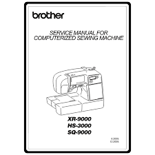 Brother Xr9000 Sewing Machine Manual