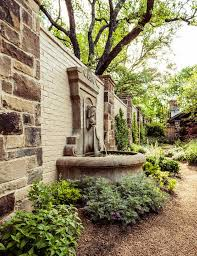 outdoor wall fountain landscape mediterranean with stone columns gray outdoor waterfall fountains