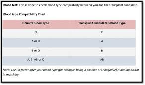 Blood Type Donor Compatibility Chart Donor Evaluation Process Ui Health