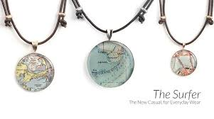 Unique Map Jewelry And Nautical Chart Pieces Handcrafted