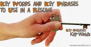 Resume Key Words And Phrases Examples Key Words To Use In