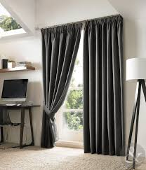 new blackout curtains luxury fully lined embroidered pencil pleat curtain pair slate black grey