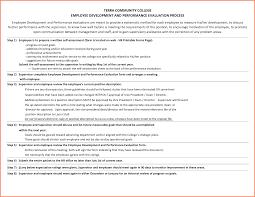 Goals Employee Performance Evaluation Employee Self Evaluation Examplessample Written Employee 1