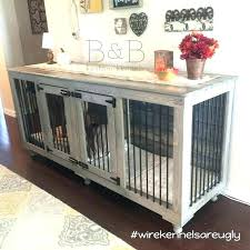 end table dog kennel dog crate table dog furniture crates dog crate furniture is one of