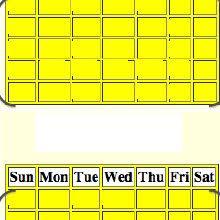 Calendar Generator Visual Representation Of The Abstraction Of The Calendar Generator
