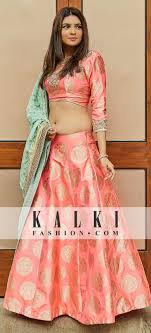 Kalki Lehenga Designs Pink Lehenga Adorn In Embroidered Neckline Only On Kalki
