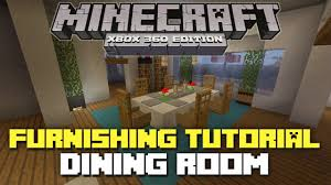 Minecraft Living Room Furniture Minecraft Xbox 360 Furniture Tutorial And Ideas Dining Room