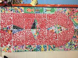 as you can see mrs barry s class did a great job on the arts and crafts portion of their work as they teamed up to create a wonderful roman mosaic