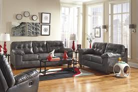 Furniture Excellent Gray Leather Sofa By Ashley Furniture Austin