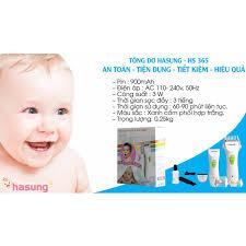 Tông đơ cắt tóc trẻ em Hasung HS365 - tặng kèm khăn choàng cổ dùng cắt tóc