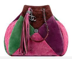 purple chanel bags. chanel suede patchwork drawstring bag purple bags 2