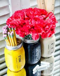 mason jar pencil holder 17 diy locker decorations see more at s