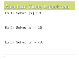 4 absolute value equations