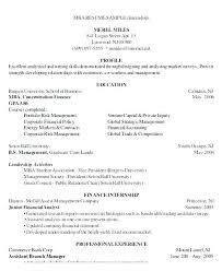 Mba Finance Resume Sample Resume Sample For Finance Student S Mba