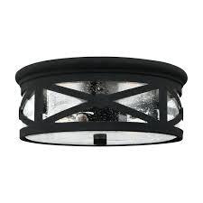 flush mount outdoor ceiling light sea gull lighting in w black outdoor flush mount light outdoor