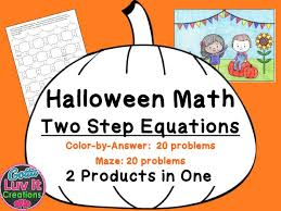 solving equations fall math two step equations maze color by number coloring page by gottaluvitcreations teaching resources tes