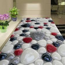 <b>Beibehang Custom</b> White Red Black Cobblestone Mural Floor <b>Pvc</b> ...