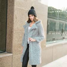 winter women warm long sleeve parka faux fur coat overcoat fluffy top jacket new