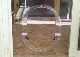 we can and fit in standard pet doors for both cat and dog in glass the sizes provided by the manufacturers will suit catost small medium size