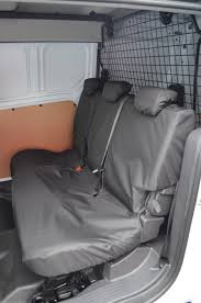 van rear seat covers black
