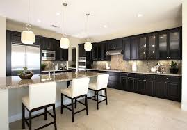 kitchen paint colors with dark cabinets wall
