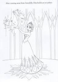 Frozen Coloring Page Elsa Building Her
