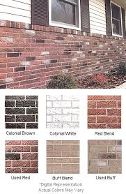 faux brick vinyl siding. available in 6 colors..buff blend,used buff,used red,red blend, colonial white and charcoal brown..call toll free ask our friendly sales staff for a faux brick vinyl siding i