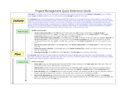 project management quick reference guide project management quick reference guide word flevypro document