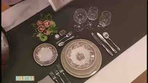 Setting A Dinner Table Video Setting A Dinner Table How To Martha Stewart