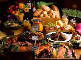 kitchen table with food. Fine Food In Kitchen Table With Food