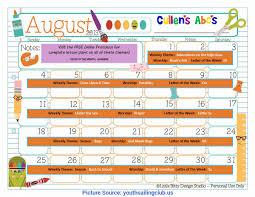 August Theme Calendar Valuable Lesson Plans For Preschool August My Home Theme