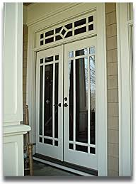 double doors exterior. double wood french doors exterior with transom painted white color decor and glass insert black metal handle ideas g