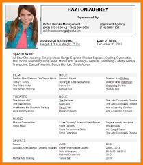 Actor Resumes Resume Example 28 Child Acting Resumes Child Acting
