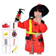 firewoman costume firefighter romper fancy dress fire woman suit suspenders outfit uniform
