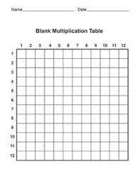 Free Blank Multiplication Tables Print Out Have Your