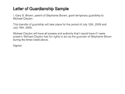 Child Custody Letter Sample Guardianship Letter Template Permanent Uk