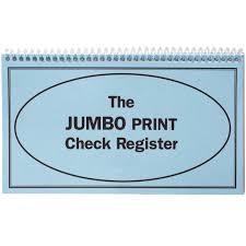 Large Print Check Register Check Register Walter Drake