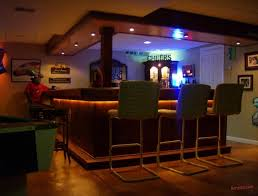 Contemporary Basement Sports Bar Cheers To Design Ideas