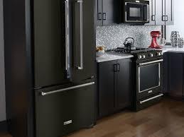Kitchenaid's new matte black range, in situ