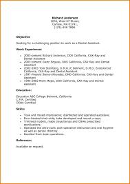 Resume For Dental Assistant Awesome Resume Objective For Dental